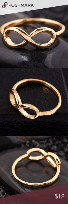 18k Gold Dipped Infinity Love Ring Size 7 18k Gold Dipped Infinity Love Ring Size 7. I also have the Gold Tone Infinity Hair Barrettes & Gold Dipped Infinity Love Pendant Necklaces listed. These items would make a great set! SAVE 10% when you Bundle 2 or more items & pay only ONE shipping fee! Classic Trends Jewelry Rings