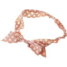 Peachy Polka Dot Headband ❤ liked on Polyvore