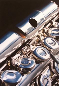 Flute Painting - A Three Piece Flute by Melanie Cossey