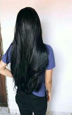 66+ New ideas hair long black locks #hair