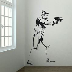 Xtra Large Storm Trooper Star Wars Life Size Wall Art Big Mural Sticker Decal