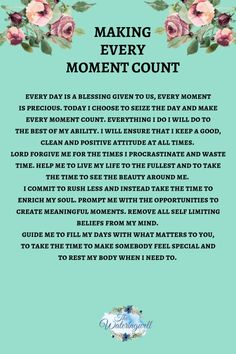 Time to make every moment count - The Wateringwell Prayer Scriptures, Bible Prayers, Faith Prayer, God Prayer, Prayer Quotes, Power Of Prayer, Faith Quotes, Spiritual Quotes, Prayers For Strength