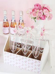 Pink wedding bar or signature drinks station