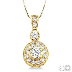3 ctw round cut diamond necklace in 14k yellow gold www round cut diamond pendant necklace set in 14k yellow gold with pave diamond halo and bail aloadofball Gallery