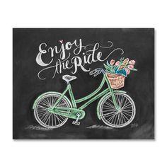 Enjoy The Ride - Print #bicycle #bike #cruiser