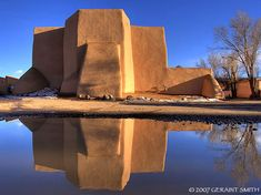 Evening light and reflections. The church of St Francis in Ranchos de Taos, NM Evening light and reflections. The church. New Mexico Usa, New Mexico Homes, Gulf Of Mexico, St. Francis, Tao, Hotel Concept, Mexico Style, New Mexican, Land Of Enchantment