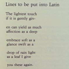 Latin Poem 32