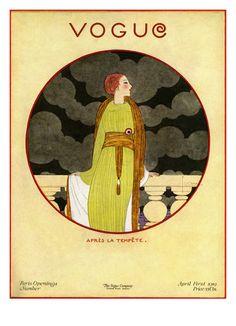 Vogue Cover - April 1919  Georges Lepape