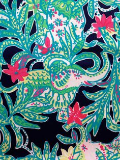 fabric for sale in my etsy shop ~ lilly pulitzer's bright navy trunk show beach twill cotton (18 x 18) by lillybelle designs, $12.00 @ lillybelledesigns.etsy.com