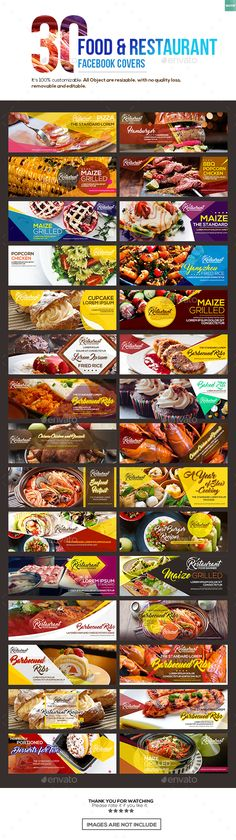 30 Food & Restaurant Facebook Covers  — PSD Template #social media banner • Download ➝ https://graphicriver.net/item/30-food-restaurant-facebook-covers/18416276?ref=pxcr