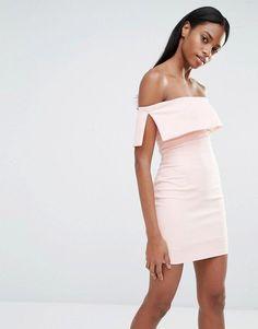 fb0fb6081c Missguided Bardot Bodycon Mini Dress Pink Mini Dresses