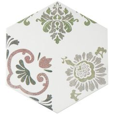 """Found it at Wayfair - Fantazio 9.88"""" x 8.63"""" Porcelain Floor and Wall Tile in Pink"""