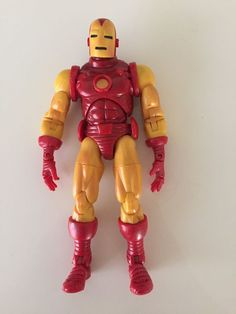 Collectible Vintage Action Figure Iron Man 2002 Marvel Legends 7in tall Series 1 #MarvelLagends