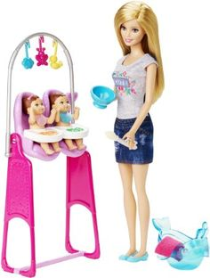 Barbie Careers Twin Babysitter Doll and Playset Explore new careers in depth with the Barbie careers play sets. From medicine to teaching Barbie makes anything possible! the Barbie careers twin babysitter set is double the fun with two little tots… Barbie Doll Accessories, Doll Clothes Barbie, Barbie Doll House, Barbie Toys, Nurse Barbie, Barbie Stuff, Barbie Dream, Accessoires Barbie, Barbie Playsets