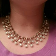 Vintage Pearl and Rhinestone Necklace Used to be my great grandmothers. Great for shinning up a plane outfit! Jewelry Necklaces