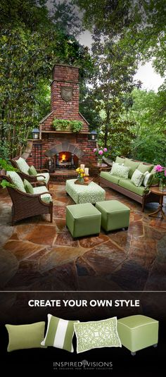 Enjoy daylight's every moment with a space all your own! These Sunbrella@ accessories are beautiful enough to impress your guests and durable enough to last outdoors. #outdoorliving