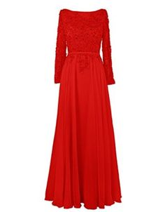 Dressystar Formals Long Chiffon Evening Party Gowns with Sleeves Backless