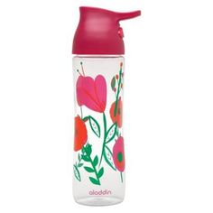 Aladdin water bottles are the BEST. Leak-proof, BPA-free, and they have a handy carrying loop built into the lid, I use them EVERY DAY, working outside, taking a ride (bike & car), exercising, etc. Would be PERFECT for a picnic basket, and they do fit in a standard auto drink holder. - The Aladdin One-Handed Water Bottle. Capacity (volume): 24.0 Oz. Care & Cleaning: Dishwasher-safe Top Rack. Buy @ Target stores.