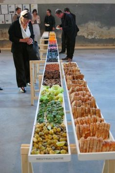 catering presentation. create your own. organized by color: