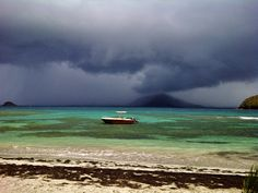 Beach House. Stormy day, Turtle Beach St. Kitts. Picture by Ricky Pereira.