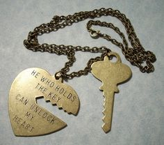AW! <3 i want this for me and my future love! ;P  (He Who Holds The Key Heart Pendant Necklace by charmsgalore, $15.00)