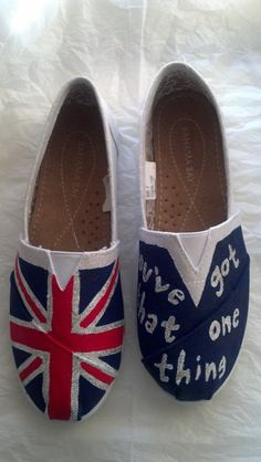 One Direction You've Got That One Thing Custom by RAVACustomShoes, $50.00