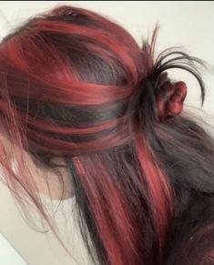 Hair Color Streaks, Hair Dye Colors, Cabelo Inspo, Red Hair Inspo, Dye My Hair, Grunge Hair, Grunge Goth, Aesthetic Hair, Pretty Hairstyles