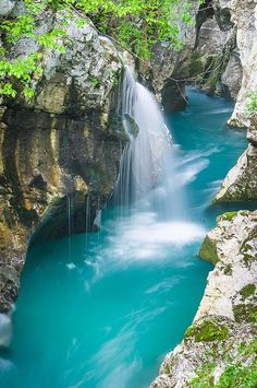 """If the Soca river in Slovenia isn't the most beautiful river on this planet, it is most certainly in the running. Nicknamed """"The Emerald Beauty,"""""""