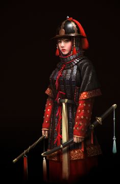 Joseon Dynasty Royal Guard by Choong Yeol Lee on ArtStation Character Concept, Character Art, Character Design, Concept Art, Fantasy Armor, Dark Fantasy, Fantasy Characters, Female Characters, Fantasy Inspiration