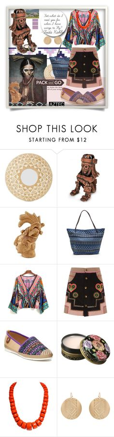 """Pack and Go:Mexico City:Tribal Aztec"" by wuteringheights ❤ liked on Polyvore featuring NOVICA, Manish Arora, Nature Breeze, Anna Sui, Accessorize and Packandgo"