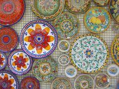 Colourful plates, Sicily