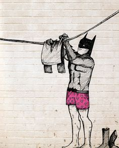 Laundry Day for Batman.