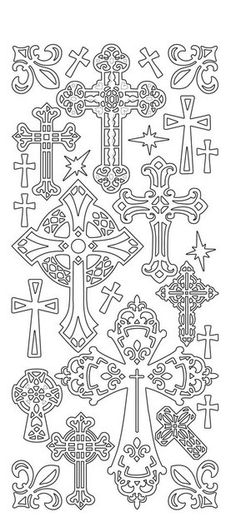 "crosses Sticker ""Kreuze"", gold"