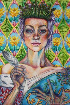 eatsleepdraw:  Asparagus Queen by centaurii Find on Society6  ...