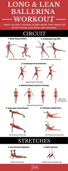 [Long & Lean Ballerina Body Workout circuit via Sleek Technique] #workout #fitness #sleektechnique