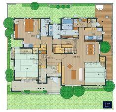 郡山中央展示場|福島県|住宅展示場案内(モデルハウス)|積水ハウス Japanese House, House Layouts, House Plans, Floor Plans, Flooring, Design, Home Decor, Log Projects, Arquitetura
