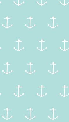 Blue Summer Anchor iPhone Home Wallpaper @PanPins