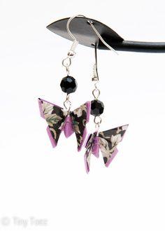 Origami Earrings   Butterflies by Orijami on Etsy, $12.00