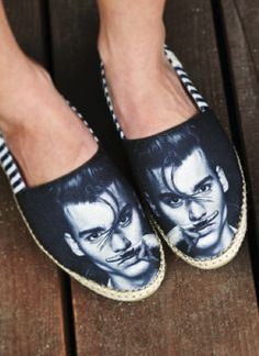 not sure how I feel about Mr. DEpp on my feet but they did make me smile so I pinned it!