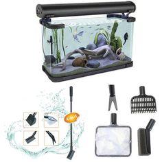 4 In 1 Aquarium Fish Filet Rake Clean Tool Kit Sponge Wash Care Tool Clean Seaweed Fish Tank Supplie