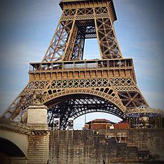 La Tour Eiffel from the Seine #paris #vacation #travel #europeadventure #latoureiffel #eiffeltower #architecture #parisarchitecture #seine #nofilter