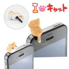 Niconico Nekomura Cat Earphone Jack Plug Accessory (Tora)