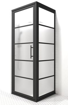Kinda looks like am phone booth! This framed shower will