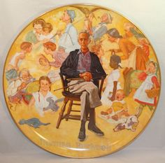 Norman Rockwell Remembered collector's plate by CactusHillCottage