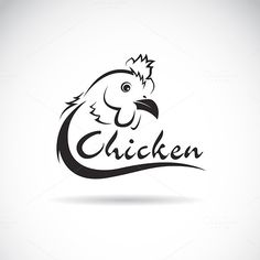 Vector design chicken is text. @photoshoplady