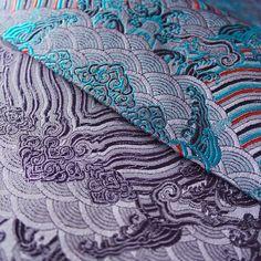 #same #background ,#diffrent #color #matching #purple #back #wave #pattern  #hangzhou #silk #brocade #peas #pods #peaspods #silver #back #with #purple #flowers #pattern  Add:JianKang RD155#,Hangzhou,China  Mail:esunzh@gmail.com Wechat:8012297 What's app:+8613-0678-66566 Web:www.wsilk.com http://www.aliexpress.com/store/1266910