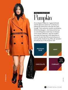 what to wear with InStyle Fall 2016 Pumpkin