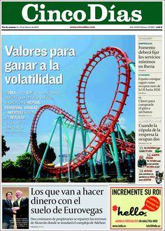 Los Titulares y Portadas de Noticias Destacadas Españolas del 9 de Febrero de 2013 del Diario Cinco Días ¿Que le parecio esta Portada de este Diario Español?