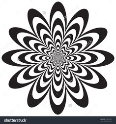 Imagens, fotos stock e vetores similares de Op Art Flower optical illusion design in black and white. Colors are grouped for easy editing. - 253825387 - Imagens, fotos stock e vetores similares de Op Art Flower optical illusion design in black and whit - Design Tattoo, Mandala Tattoo Design, Optical Illusion Tattoo, Optical Illusions, Mandala Art, Easy Op Art, Illusion Kunst, Black And White Nail Designs, Geometry Tattoo