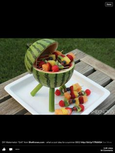 Cute grill idea for outdoor casual party